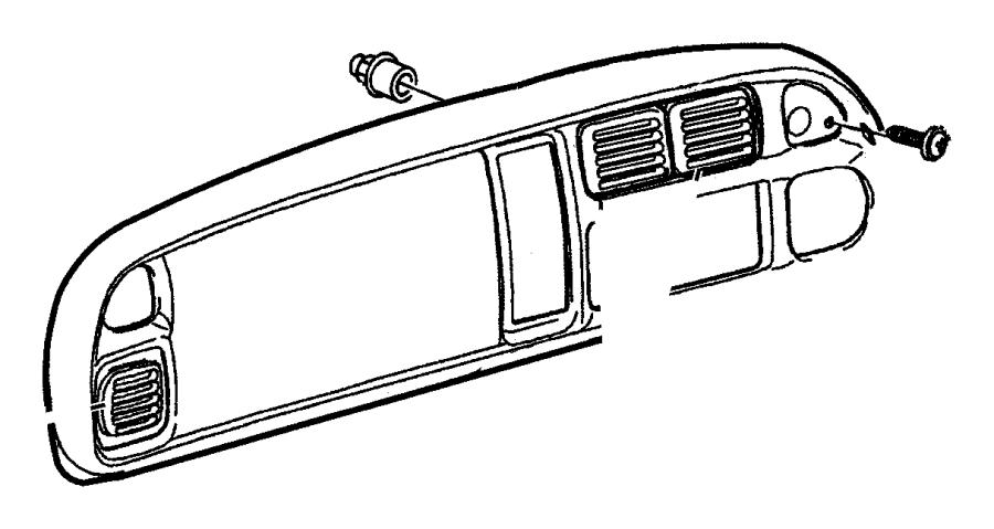 Dodge Ram 3500 Dashboard Air Vent  Right   1998-01  Center