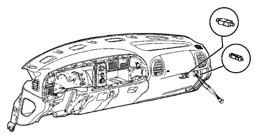 Dodge Ram 2500 Dashboard Air Vent  1998