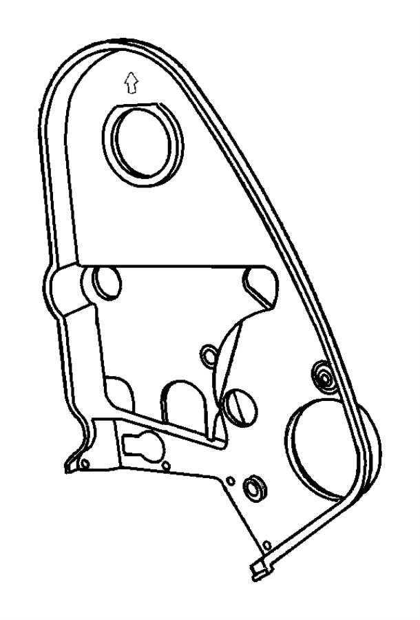Dodge Neon Engine Timing Cover. LITER, Inner, CYLINDER ...