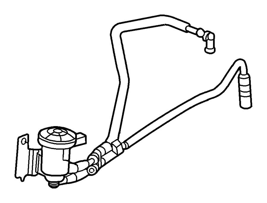 Dodge Grand Caravan Vacuum Hose  3 3  U0026 3 8 Liter  2001