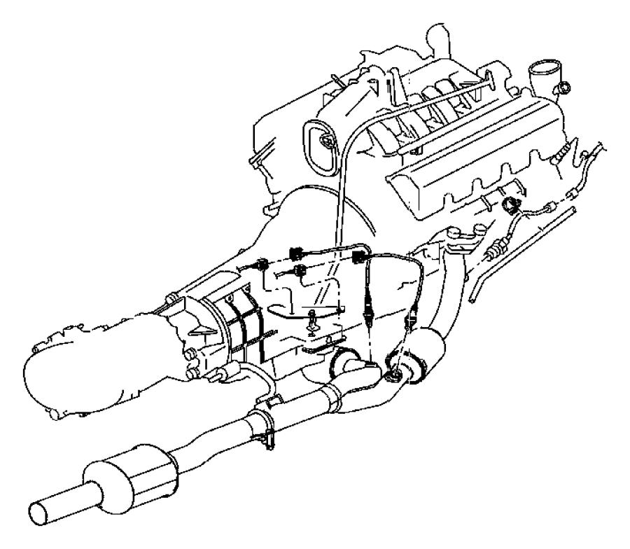 Dodge Dakota Oxygen Sensor (Front, Rear). Sensor. Oxygen ...