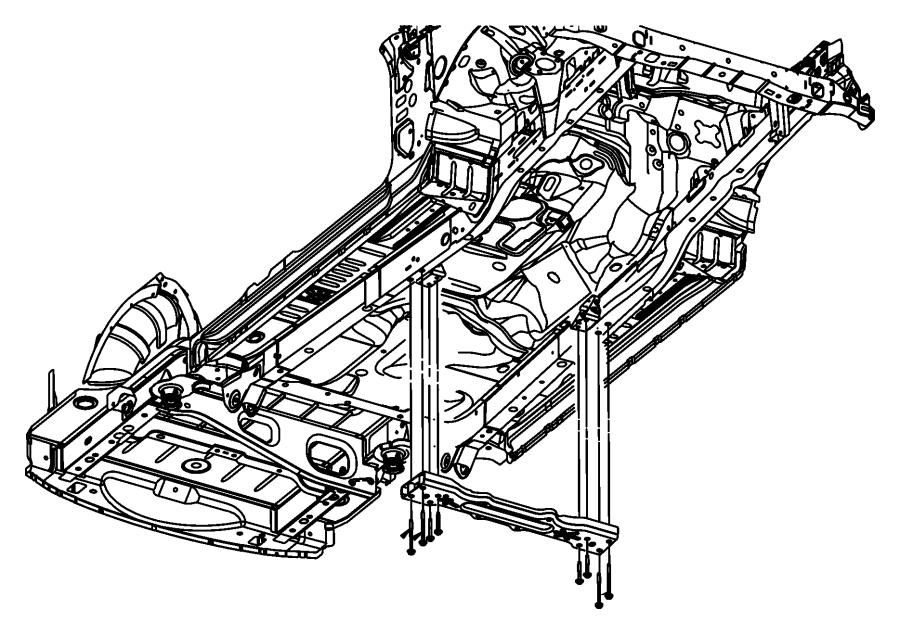 Dodge Nitro Transmission Crossmember Bolt  3 7 Liter