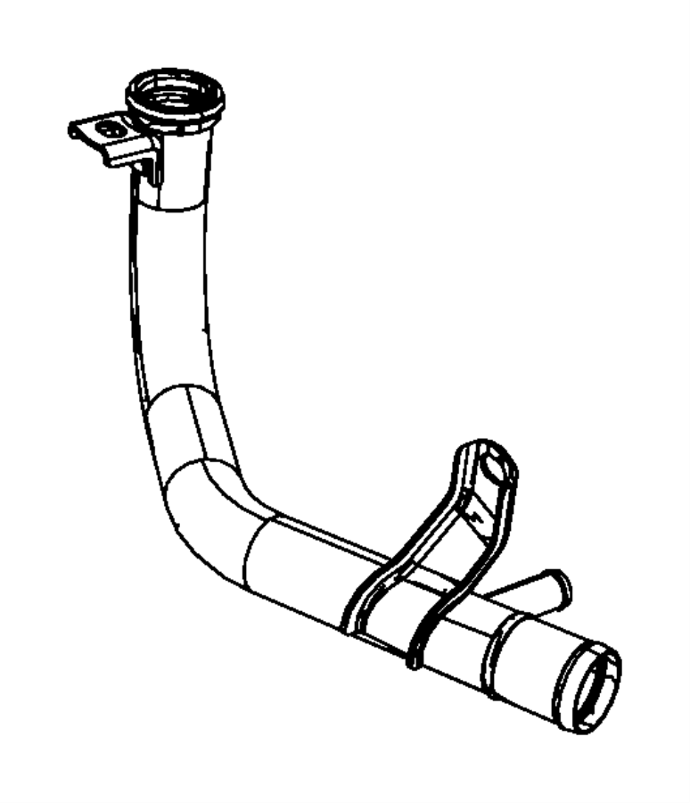 Chrysler Town  U0026 Country Engine Coolant Pipe  3 3  U0026 3 8 Liter  W  O Oil Cooler  3 3 Liter  W  Seal