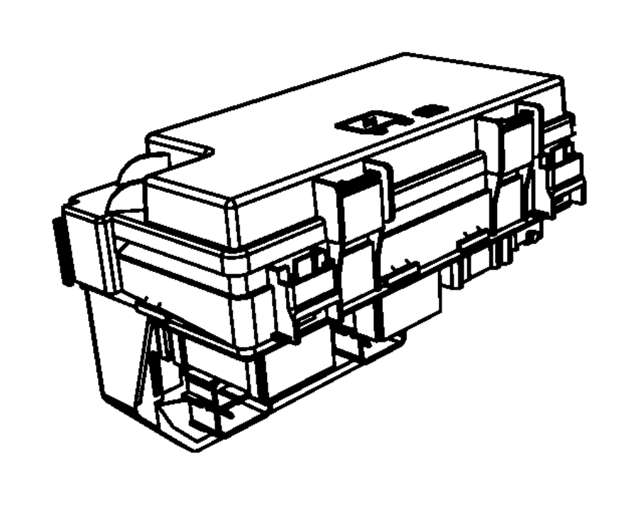 Jeep Liberty Fuse Box Cover  2009-10