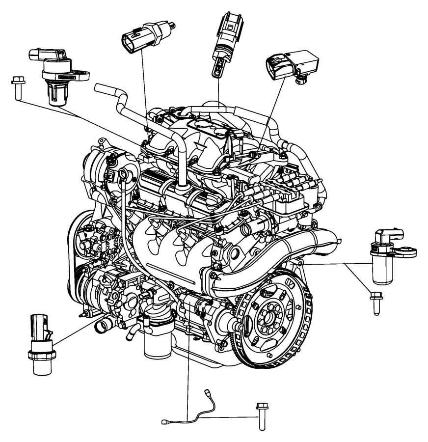 Chrysler Town  U0026 Country Engine Camshaft Position Sensor  Liter  Repair  Cause