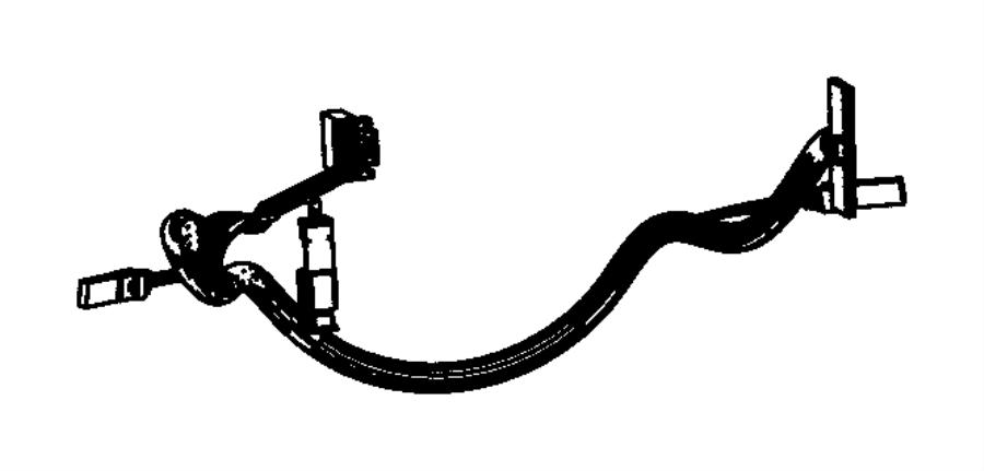 Jeep Grand Cherokee Steering Wheel Wiring Harness  2012