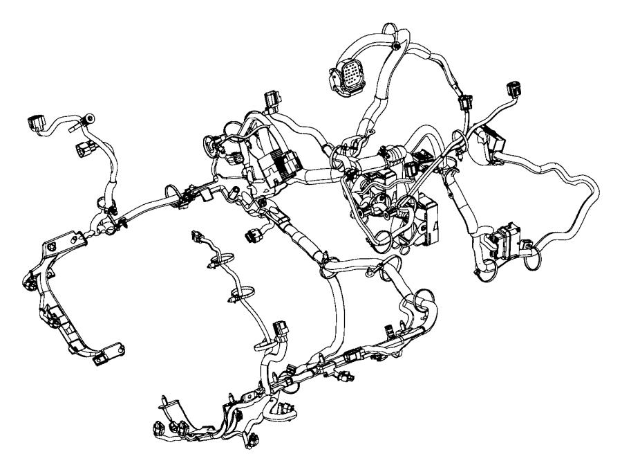 Ram Promaster 3500 Engine Wiring Harness  3 0 Liter  Telematics  Lighting  Fca  Electrical