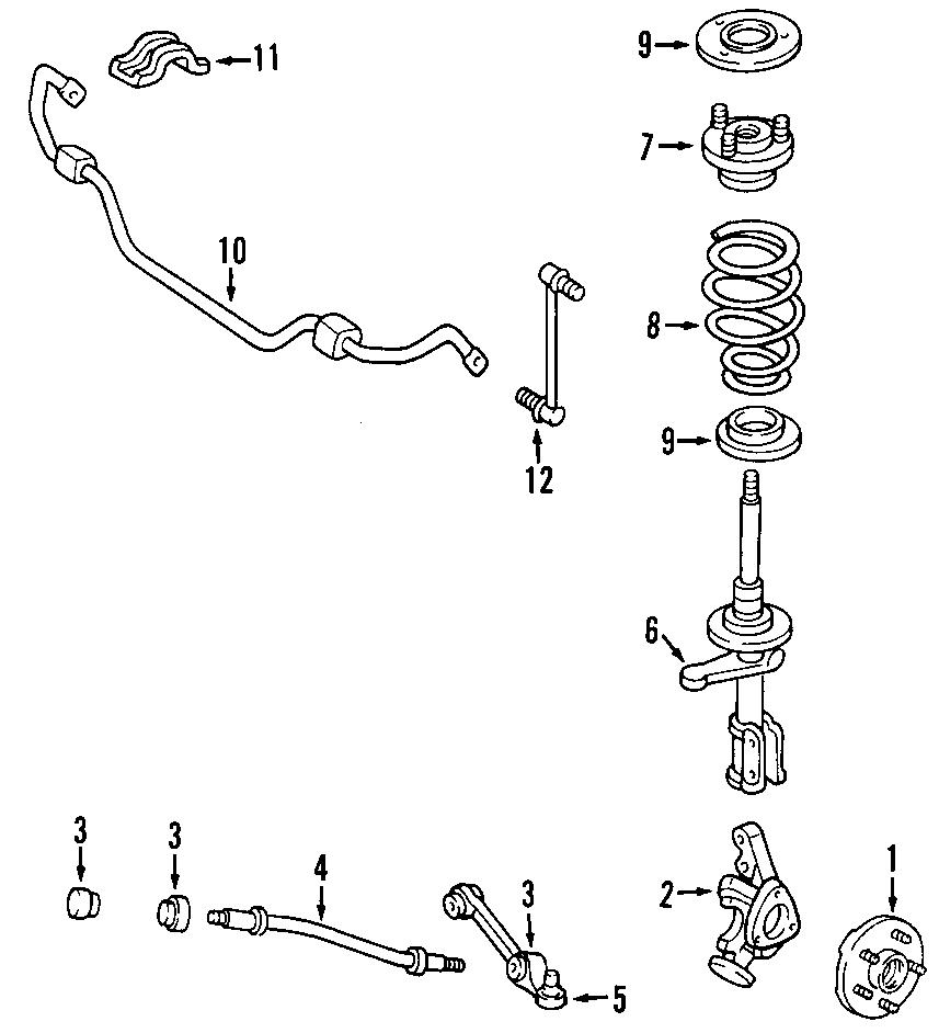Dodge Intrepid Front suspension spring. Spring insulator ...