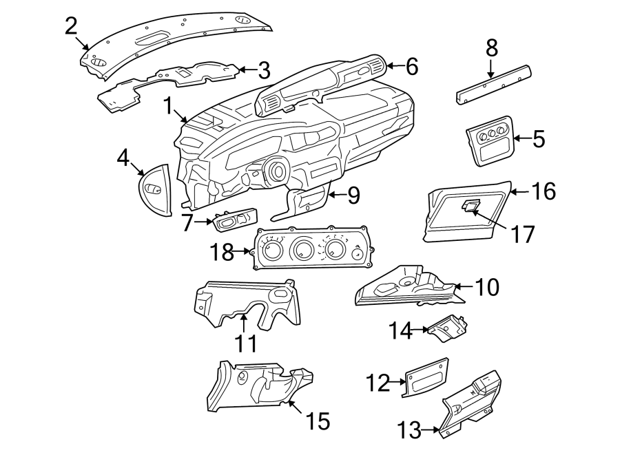 Chrysler Sebring Dashboard Panel  Sandstone  Instrument