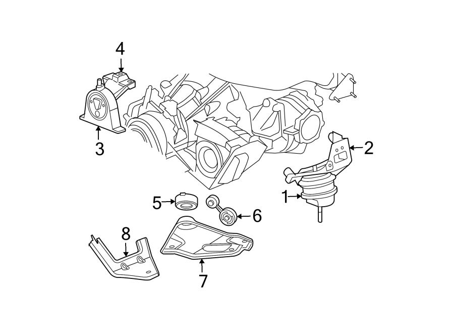 Chrysler Pacifica Engine Mount Bracket  Front   3 5 Liter