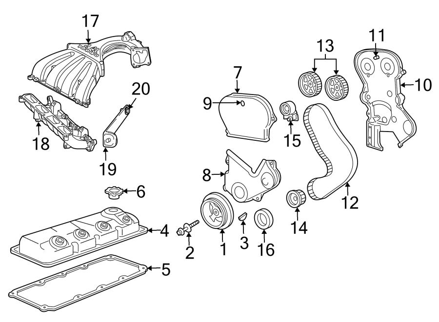 Chrysler Pt Cruiser Engine Crankshaft Seal  2 4 Liter
