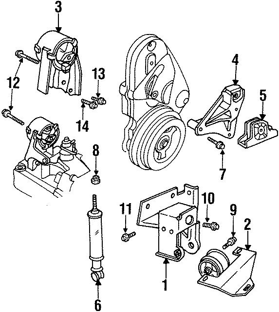 Dodge Neon Engine Torque Strut  2 0 Liter  1995