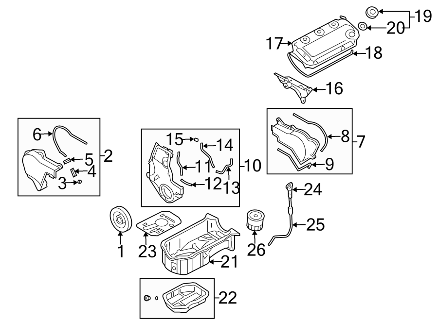 Dodge Stratus Engine Timing Cover Gasket  3 0 Liter  Outer