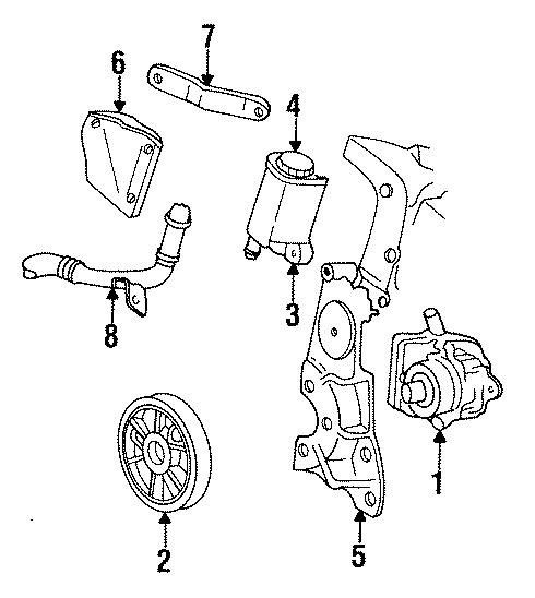 Chrysler Imperial Power Steering Pump Brace  Power