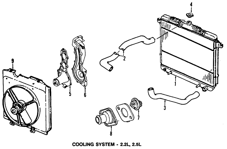 Dodge Dakota Hose   Lower   4 Cylinder  Dakota  Cooling  Radiator  Fan