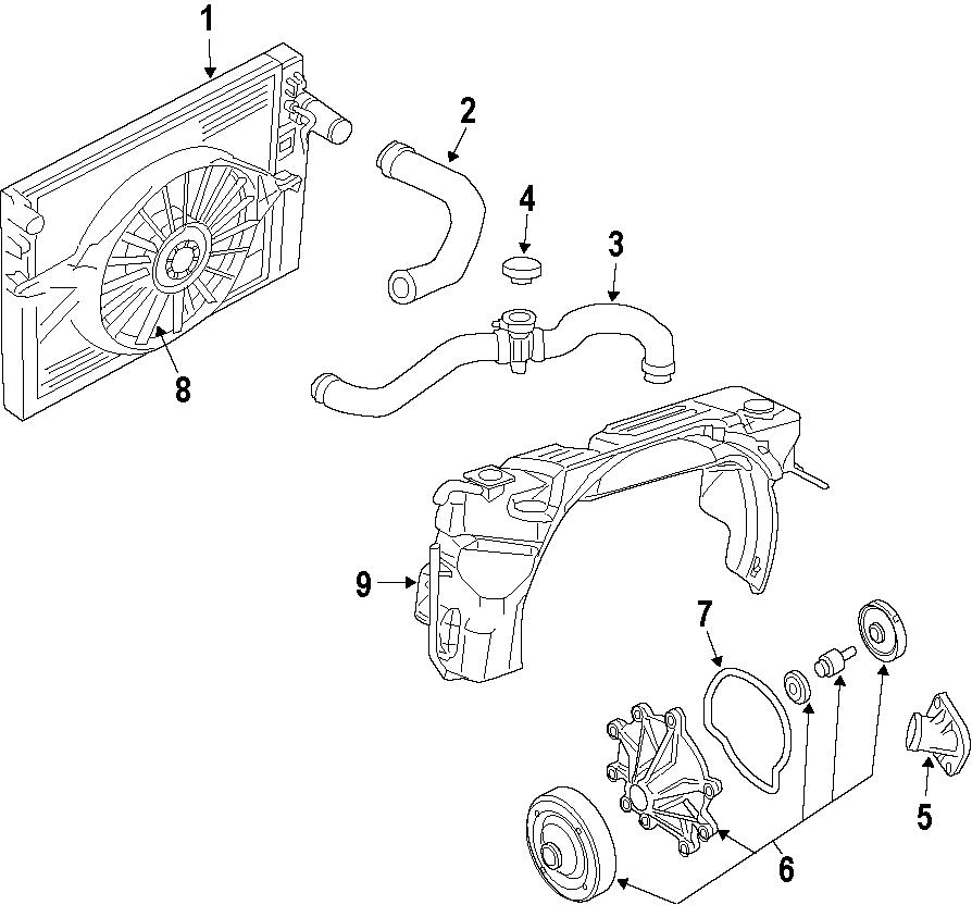 Ram Dakota Radiator Coolant Hose  3 7 Liter  Dakota
