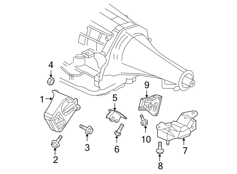 Dodge Ram 1500 Bolt  Mount  Stabilizer  Bar  Transmission   Rear