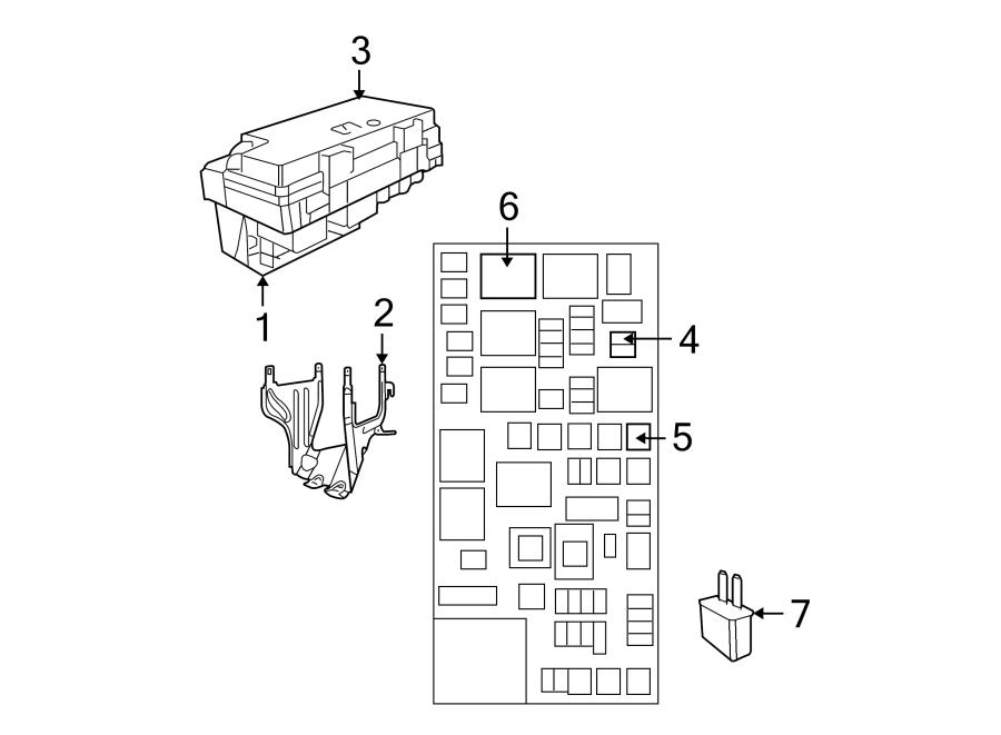 dodge grand caravan fuse box cover  upper  telematics