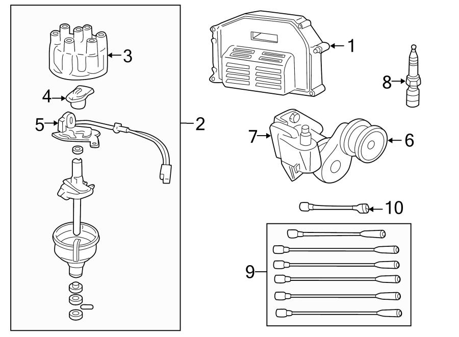 Dodge D350 Wire  Ignition  Coil  5 2  U0026 5 9 Liter  5 2