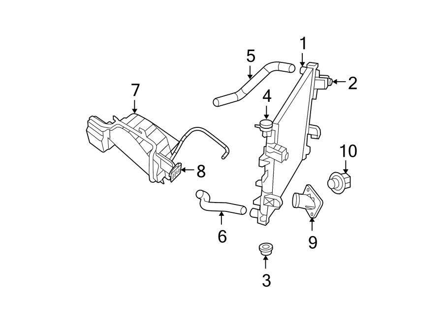 Dodge Ram 1500 Radiator Coolant Hose  Lower   3 7  U0026 4 7