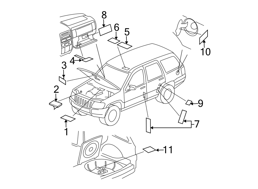 Jeep Grand Cherokee A  C System Information Label  Ac Label