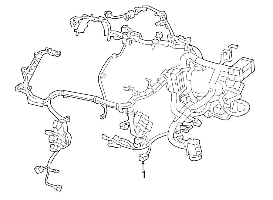 Jeep Cherokee Engine Wiring Harness  2 4 Liter  2 4 Liter