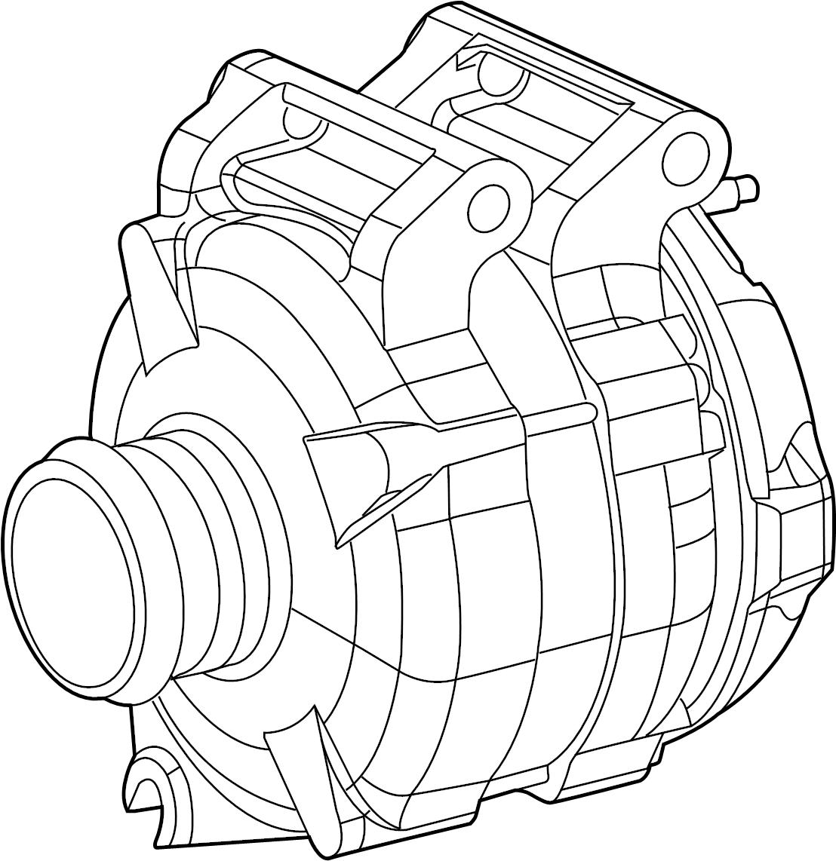 Jeep Cherokee Alternator. Engine. Generator. 3.2 liter ...